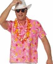 Roze hawaiishirt voor volwassenen kopen