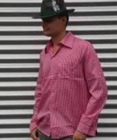 Roze oktoberfest overhemd voor heren kopen