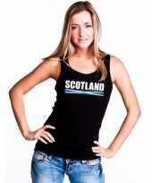 Schotland supporter mouwloos shirt tanktop zwart dames kopen