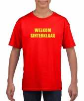 Sinterklaas t shirt welkom sinterklaas voor kinderen rood kopen