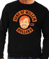 Sons of willem sweater zwart heren kopen