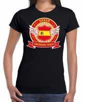 Spain drinking team t-shirt zwart dames kopen