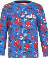 Spiderman shirt lange mouw blauw voor jongens kopen