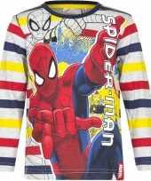 Spiderman shirt lange mouw gestreept voor jongens kopen