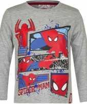 Spiderman shirt lange mouw grijs voor jongens kopen