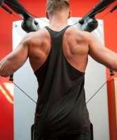 Sportkleding haltershirt voor mannen zwart kopen