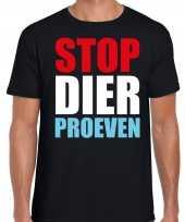 Stop dier proeven protest betoging shirt zwart voor heren kopen