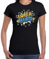 Super hero kado shirt voor verjaardag zwart voor dames kopen