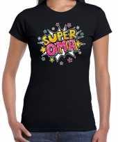 Super oma kado shirt voor verjaardag zwart voor dames kopen