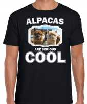 T shirt alpacas are serious cool zwart heren alpacas alpaca shirt kopen