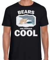 T shirt bears are serious cool zwart heren ijsberen ijsbeer shirt kopen