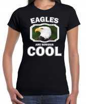 T shirt eagles are serious cool zwart dames zeearenden arend shirt kopen