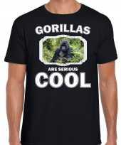 T shirt gorillas are serious cool zwart heren gorilla apen gorilla shirt kopen