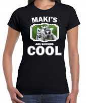 T shirt makis are serious cool zwart dames maki apen maki shirt kopen