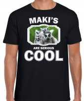 T shirt makis are serious cool zwart heren maki apen maki shirt kopen