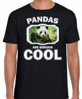 T shirt pandas are serious cool zwart heren pandaberen panda shirt kopen