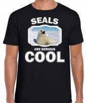 T shirt seals are serious cool zwart heren witte zeehonden zeehond shirt kopen