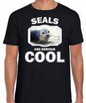 T shirt seals are serious cool zwart heren zeehonden zeehond shirt kopen
