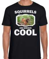 T shirt squirrels are serious cool zwart heren eekhoorntjes eekhoorntje shirt kopen