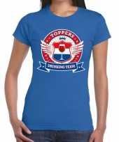 Toppers drinking team t-shirt blauw dames kopen