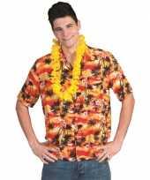 Toppers hawaii overhemd rood met oranje kopen
