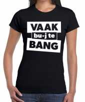Vaak bujte bang zwarte cross t-shirt zwart voor dames kopen