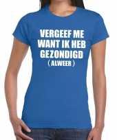 Vergeef me fun t-shirt blauw voor dames kopen