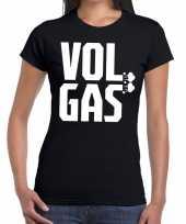 Vol gas zwarte cross t-shirt zwart voor dames kopen