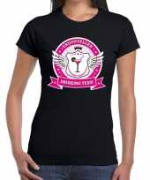 Vrijgezellen drinking team t-shirt vrijgezellenfeest zwart dames kopen
