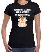 Waarom negatief in het nieuws hamsteren t-shirt coronavirus zwart voor dames kopen