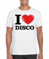 Wit i love disco t-shirt heren kopen