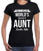 Worlds greatest aunt kado shirt voor tantes zwart dames kopen