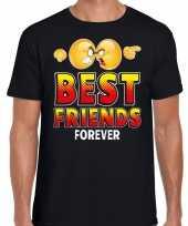 Yes best friends forever fun emoticon shirt heren zwart kopen