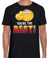 Youre the best fun emoticon shirt heren zwart kopen
