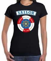 Zeeman sailor carnaval verkleed shirt zwart voor dames kopen