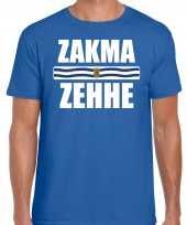 Zeeuws dialect-shirt zakma zehhe met zeelandse vlag blauw voor heren kopen