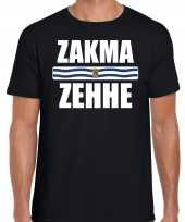 Zeeuws dialect-shirt zakma zehhe met zeelandse vlag zwart voor heren kopen