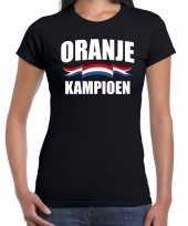 Zwart fan shirt kleding holland zwart kampioen ek wk voor dames kopen