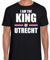 Zwart i am the king of utrecht-shirt koningsdag t-shirt voor heren kopen